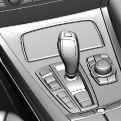 Virtuelles Studio GmbH - Strak Interieur des BMW 7 mit ICEM Surf und Alias, Schaltknauf
