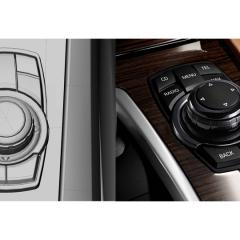 Virtuelles Studio GmbH - Strak Interieur des BMW 7 mit ICEM Surf und Alias, Menüsteuerung