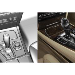 Virtuelles Studio GmbH - Strak Interieur des BMW 7 mit ICEM Surf und Alias, Schalthebel