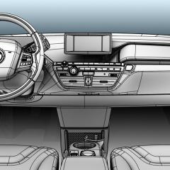 Virtuelles Studio GmbH - Strak Interieur des BMW i3 mit ICEM Surf und Alias, Lenkrad