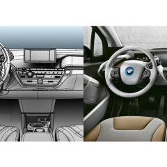 Virtuelles Studio GmbH - Strak Interieur des BMW i3 mit ICEM Surf und Alias, Cockpit