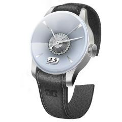 Entwurf: Uhr in hellen Grautönen
