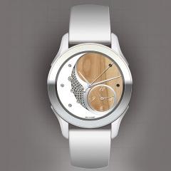 Entwuf: Uhr in silber und braun