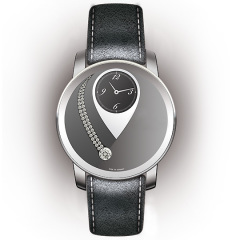 Entwurf: Uhr in dunklen Grautönen