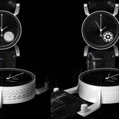 Entwurf: Uhr vor schwarzem Hintergrund