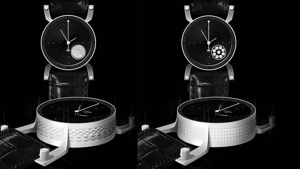 Entwurf: schwarze Uhr