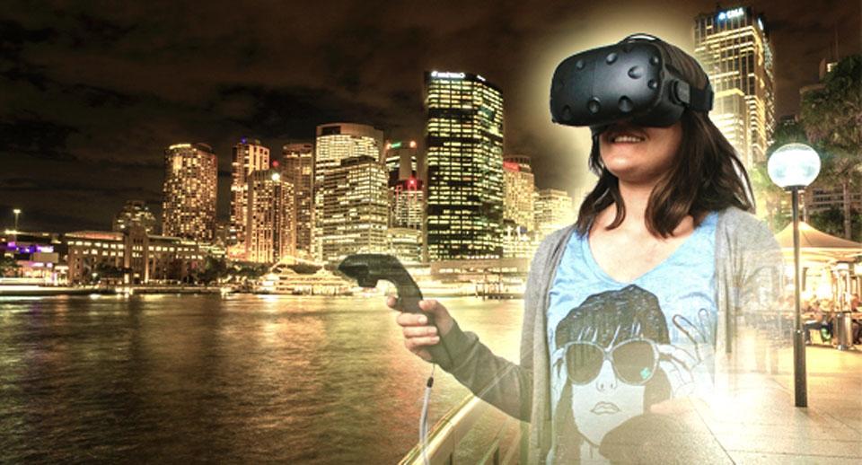 Demo der 3D-Brille auf der JOBtotal2015