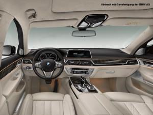 Strak-Prozess für das Interieur des neuen BMW 7er