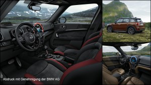 Technical surfacing of the interior of the new MINI Countryman